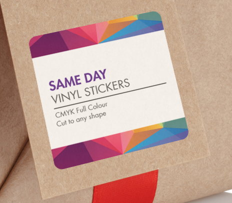 Fast same day sticker printing in london printpal london for Same day t shirt printing