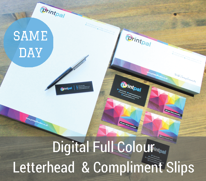 Premium business stationery printing in london printpal london our walk in centre in london boasts a digital colour press on site that can print high quality short run stationery reheart Choice Image