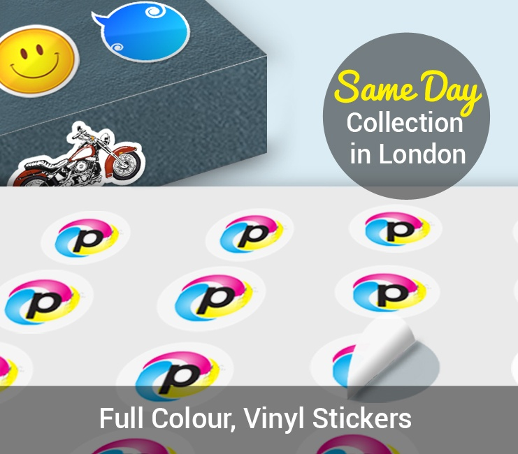 We love sticker printing in london so much that we introduced this service on a same day service from our north london store please contact our sales