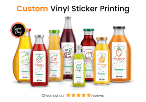 Custom Vinyl Sticker Printing London