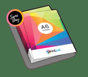 A6 size leaflets