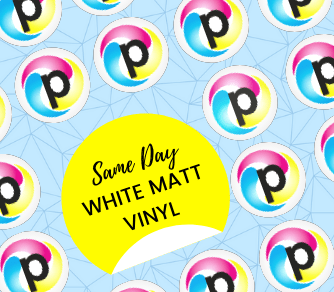 White Matt Sticker Printing London